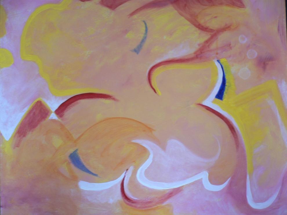 """""""Dawn"""" Acrylic on canvas, 2008."""
