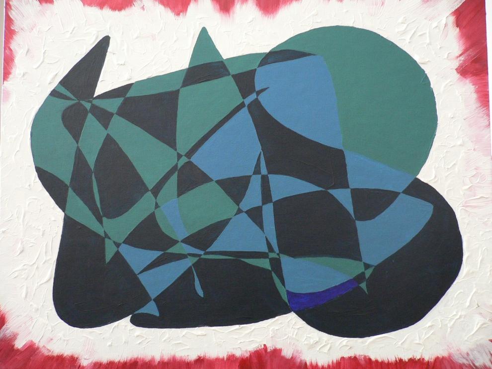 """""""Left"""" Acryllic on panel, 1992-3."""