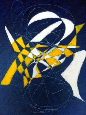 """""""Thunderbird"""" Acrylic on panel. 2009"""