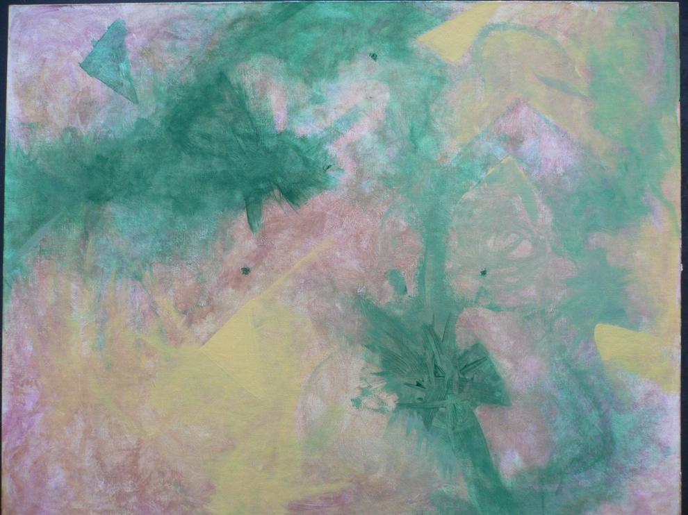 """""""Tourmaline Big Bang"""" Acrylic on Canvas 1994-5"""